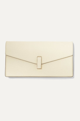 Valextra Iside Textured-leather Clutch - White