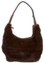 J. Mendel Leather-Trimmed Mink Fur Bag