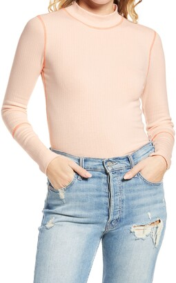 Free People The Rickie Mock Neck T-Shirt