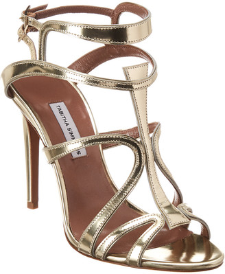 Tabitha Simmons Jasmine Metallic Leather Sandal