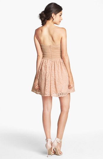 Way-In Embellished Lace Fit & Flare Dress (Juniors) (Online Only)