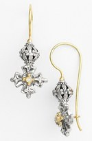 Konstantino Women's 'Classics' Diamond Maltese Cross Drop Earrings