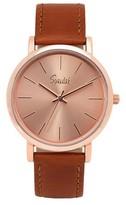 Speidel Sunburst Watch, Rose Gold Face, Leather Band- Brown