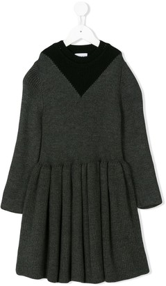Helena Wolf & Rita long-sleeve dress