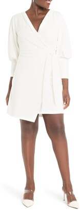 ELOQUII Puff Sleeve Wrap Dress