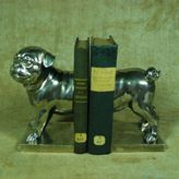 Gump's Silver Pug Bookends