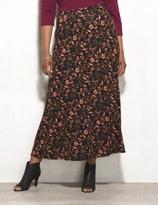 dressbarn WESTPORT Plus Size Floral Maxi Skirt