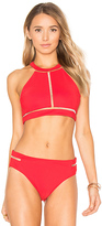 Alexander Wang Fish Line Detail Bikini Top in Red. - size L (also in S)