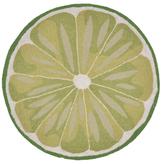 Liora Manné Frontporch Lime Slice Indoor/Outdoor Hand-Tufted Round Rug