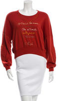 Sonia Rykiel Cropped Embroidered Sweater