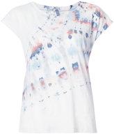 Raquel Allegra tie-dye detail T-shirt - women - Cotton/Polyester - 1