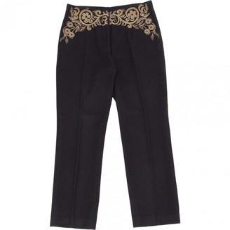Dries Van Noten \N Navy Wool Trousers