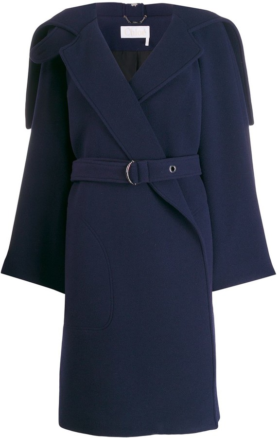 a2850c67 wrap-front belted coat