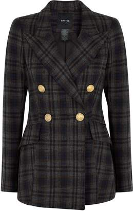 Smythe Checked Double-breasted Wool-blend Blazer