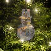 Disney Thomas Kinkade Spirit of Christmas Snowman-Shaped Hanging Acrylic