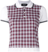 DSQUARED2 plaid polo shirt