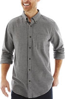 ST. JOHN'S BAY St. John's Bay Long-Sleeve Legacy Houndstooth Flannel Shirt