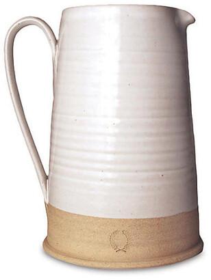 "Countryman Pitcher - White/Natural - Farmhouse Pottery - 7.25""l"