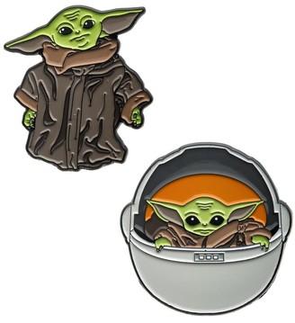 Star Wars Mandalorian The Child Baby Yoda Enamel Pin Bundle | Set of 2 - Multi