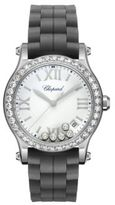 Chopard Happy Sport Diamond, Stainless Steel & Rubber Strap Watch