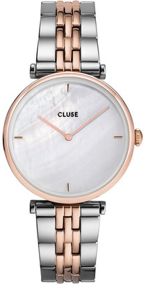 Cluse Triomphe CW0101208015 5-Link White Pearl Silver/Rose Gold
