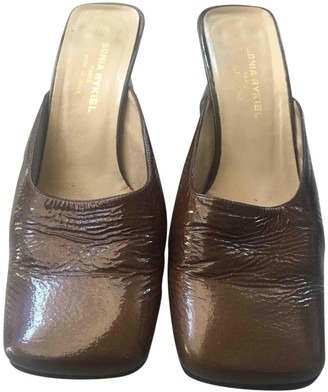 Sonia Rykiel Brown Patent leather Sandals