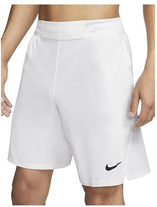Nike NikeCourt Flex Ace Shorts 9 (Black/White) Men's Shorts