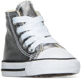 Converse Toddler Girls' Chuck Taylor All Star Hi Metallic Casual Sneakers from Finish Line