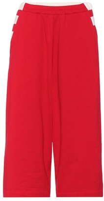 Y-3 Cropped cotton trackpants