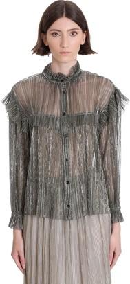 Etoile Isabel Marant Elmirae Shirt In Silver Polyester