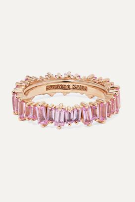 Suzanne Kalan 18-karat Rose Gold Sapphire Ring