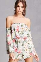 Forever 21 Off-the-Shoulder Floral Romper