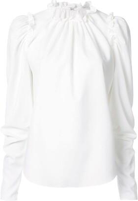 Ingie Paris Ruffled Long-Sleeved Blouse