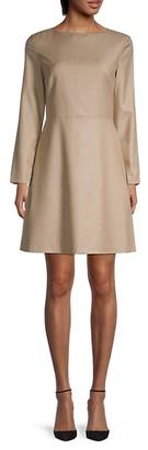 Theory Kamillina Virgin Wool Shift Dress