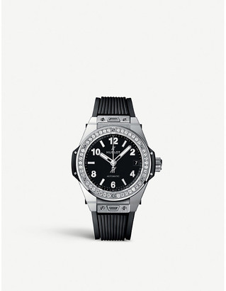 Hublot Women's Silver and Black 465.Sx.1170.Rx.1204 Big Bang Stainless Steel Watch