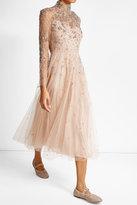 Valentino Rockstud Embellished Leather Ballerinas