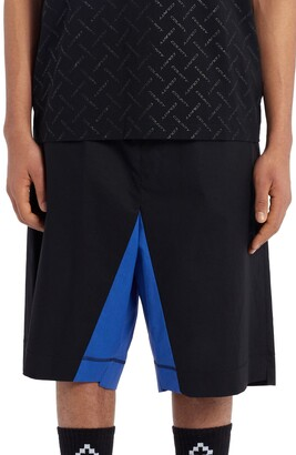 Marcelo Burlon County of Milan Stretch Cotton Shorts