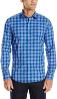 Bugatchi Men's Vibrant Plaid Button Down Shirt