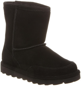 BearPaw Cold Weather Boots BLACK - Black Brady Youth Suede Boot - Kids