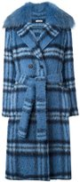 P.A.R.O.S.H. 'Lionel' coat - women - Polyamide/Polyester/Mohair/Marmot Fur - M