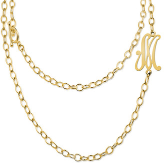 Jane Basch 22K Over Silver A-Z Convertible Toggle Initial Necklace
