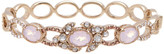 Jenny Packham Pave Crystal & Oval Glass Bangle
