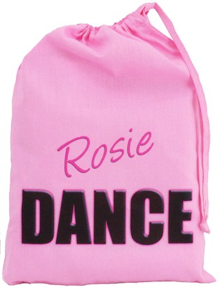 The Cotton Bag Store Ltd Personalised - Pink Dance Bag - Small Cotton Drawstring Bag