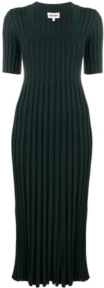 Kenzo Ribbed Short-Sleeve Dress