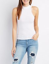 Charlotte Russe Ribbed Mock Neck Tank Top