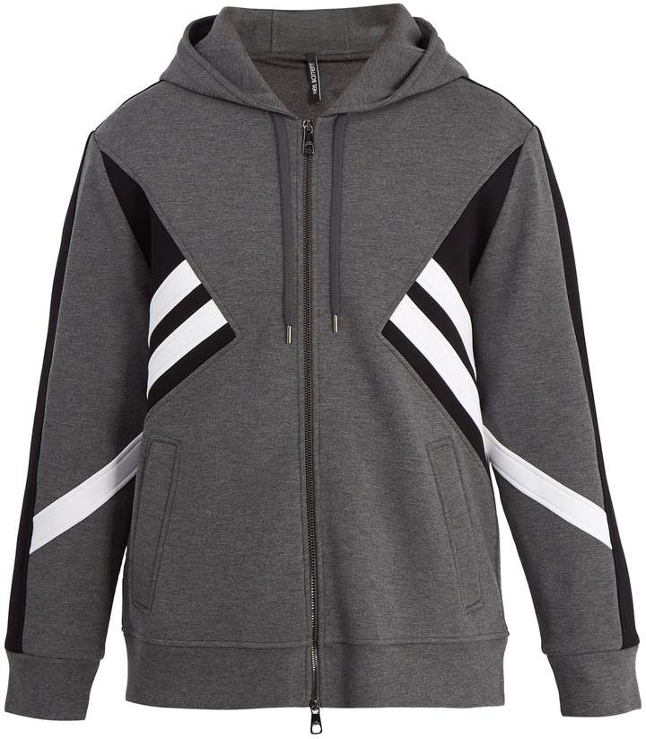 Neil Barrett Modernist zip-through hooded sweatshirt