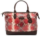 Longchamp Snake Print Leather Medium Shopper Bag