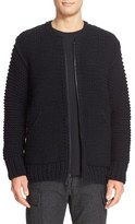 Wings + Horns wing + horns Zip-Up Hand Knit Wool Sweater