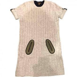 Louis Vuitton Grey Wool Dresses