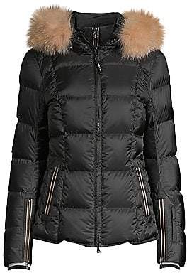 Bogner Women's Sanne-D Fox Fur Trim Quilted Coat